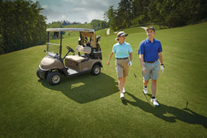 T H WHITE Golf and Utility E Z GO buggy