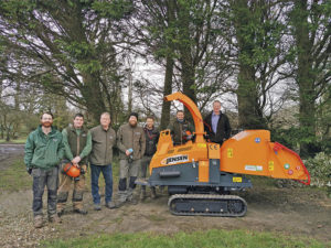 Jensen at Wiltshire College for Dorothy House woodchipping event raising over £40,000 for charity